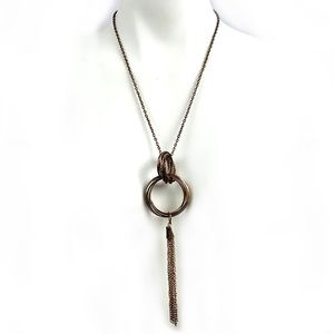🎀4/$20 Antiqued Bronze Necklace w Circle & Chains